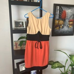 Adorable Esley mini-dress, color block, size M